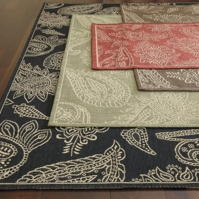 Ballard Designs Paisley All Over Outdoor Rug  Ordered In Sage
