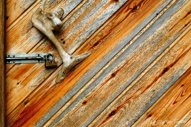 A wooden door near Kuopio #Finland #Kuopio #Wood #Door