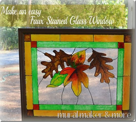 Make Your Own Faux Stained Glass Window With Paint You