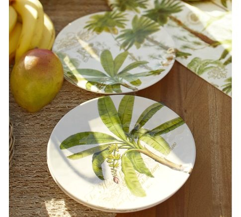 Palm Melamine Plates, Set of 4 | Pottery Barn