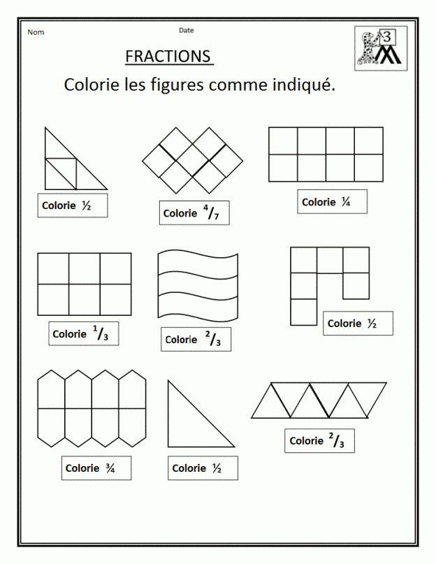 1000 id es sur le th me additionner des fractions sur - Fraction cm1 a imprimer ...