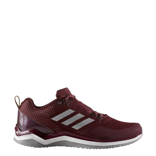 Adidas Men's Speed Trainer 3.0 Training Shoes (Maroon/Silver Metallic/Footwear White, Size 14) - Men's Training Shoes at Academy Sports