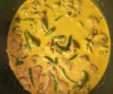 Rezept Schweinefilet in Champignon-Prinzessbohnen-Currysoße von Botox05 - Rezept der Kategorie Hauptgerichte mit Fleisch
