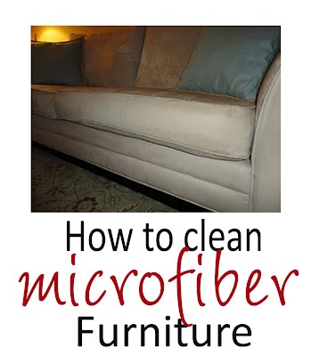 Is your microfiber furniture stained? You don't need a new couch-you just need this information here-Cleaned good as new-We've used this cleaning technique on microfiber furniture and it really works!   #TipsandTricks