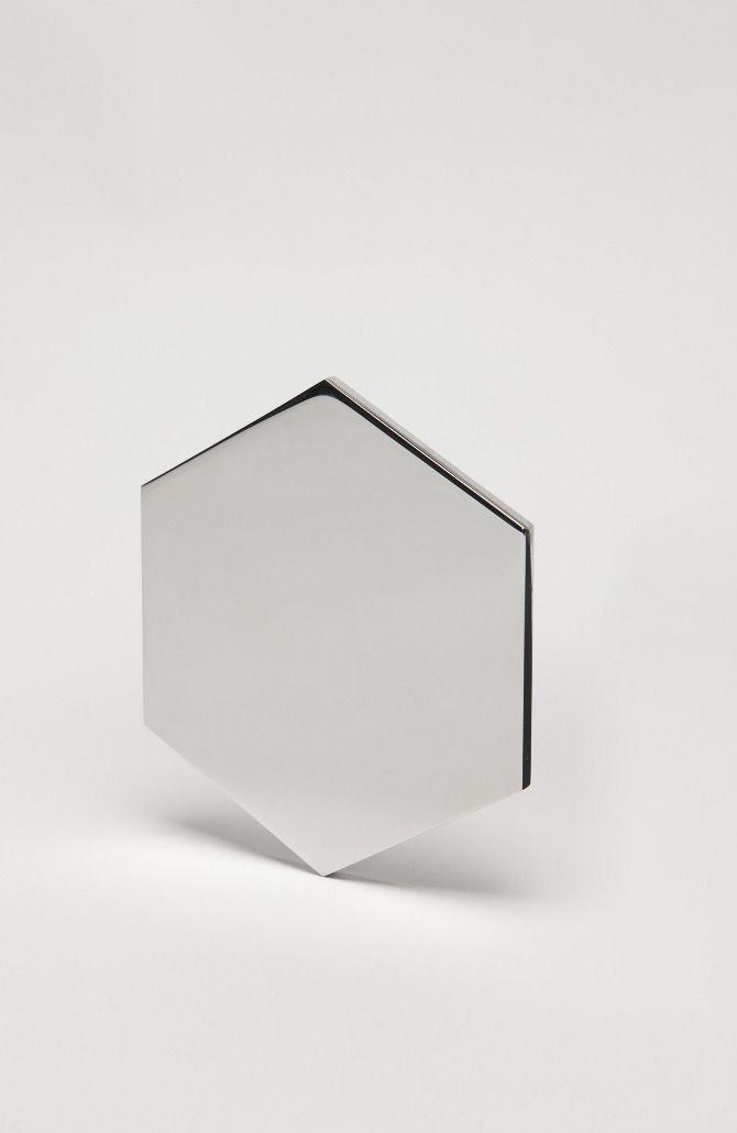 Mirror - DANIEL EMMA  Polished & Machined 6mm 304 Stainless Steel 120 x 140 x 6