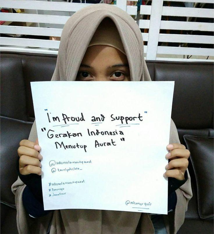 "I'm Proud And Support ""GERAKAN INDONESIA MENUTUP AURAT"""