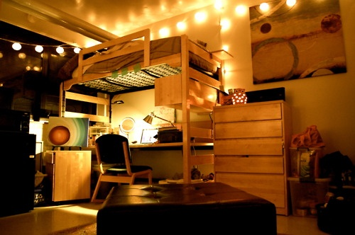 Best String Lights For Dorm Rooms : 1000+ images about Dorm Loft on Pinterest Picture collages, Coral bedspread and Design