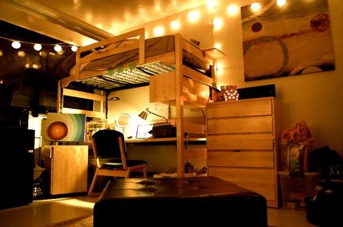 Best String Lights For Dorm Rooms : 1000+ images about Dorm Loft on Pinterest Picture collages, Coral bedspread and Design