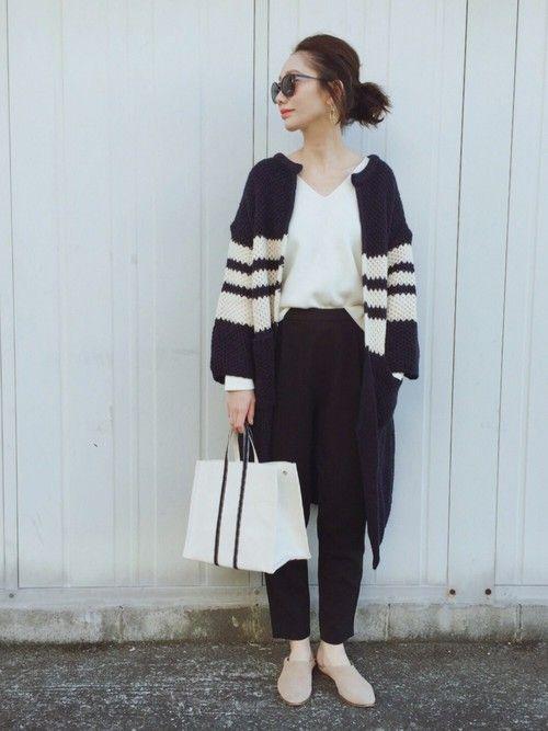 ROPE' PICNICのニット・セーター「ミラノリブVネックプルオーバー」を使ったTOMOKA のコーディネートです。WEARはモデル・俳優・ショップスタッフなどの着こなしをチェックできるファッションコーディネートサイトです。