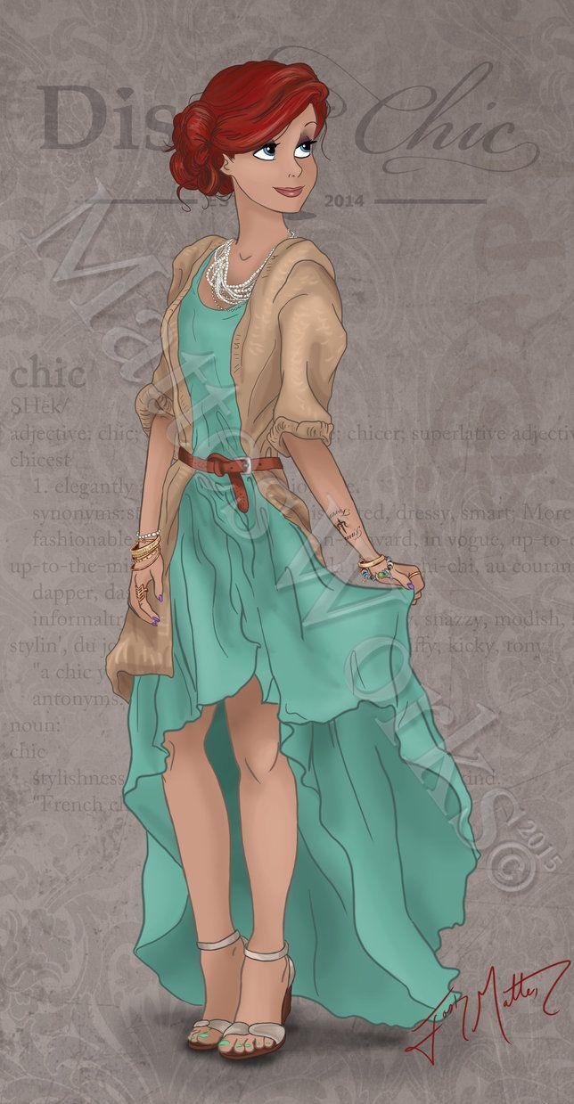 Eine wunderschöne Interpretation eines modernen Outfits von Arielle, der Meerjungfrau!