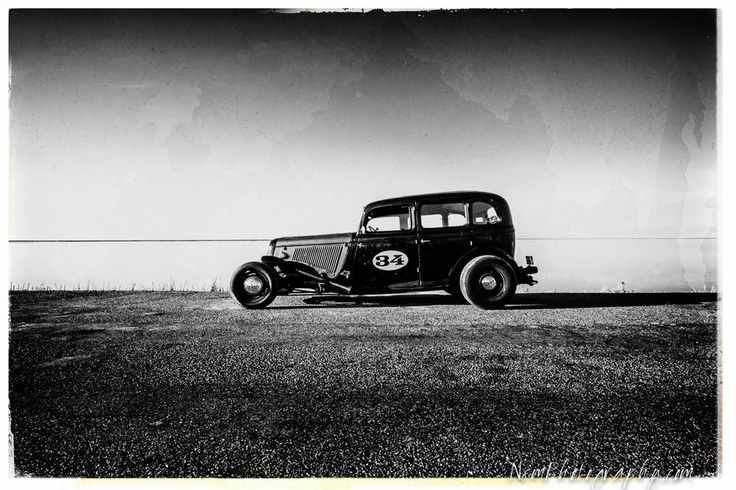 12x18 in. Black & White Poster, '34' Ford Sedan Vintage Garage Art Man Cave