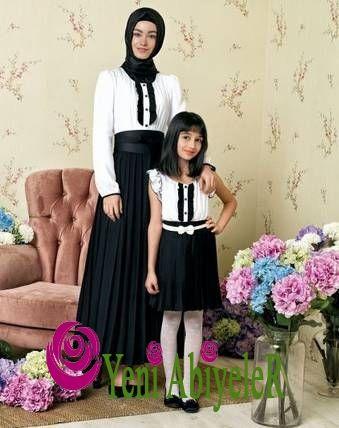 Anne Kız Cici abiye modelleri