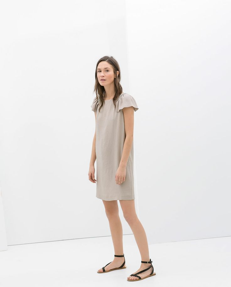 Image 1 of DRESS WITH CHAIN SHOULDER from Zara