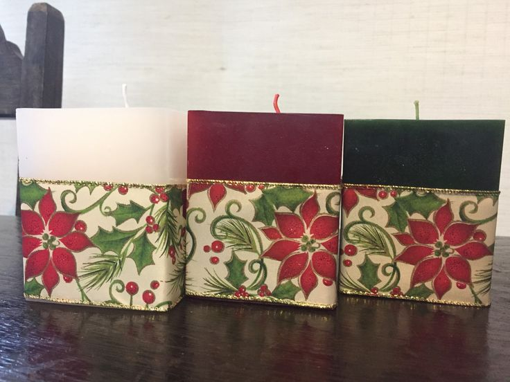 Lindas velas natalinas! Escolha sua cor ou cores!  Valor unitário.