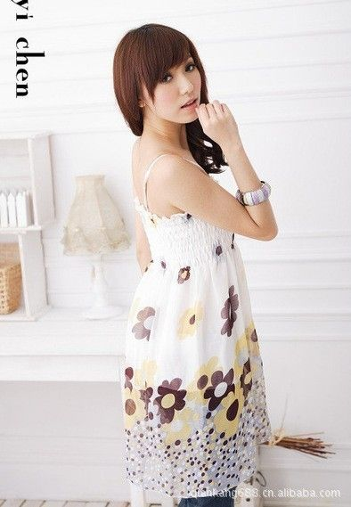 2014 summer beach dress bohemian thin straps large size dress Korean sea $6.99 | kuangyicui ...
