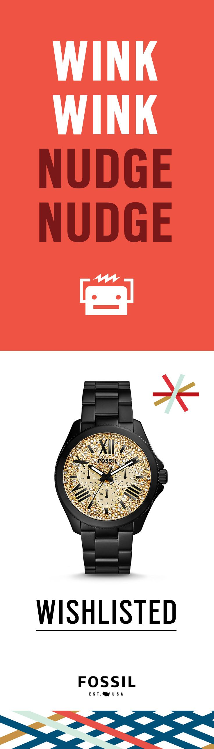 On my wishlist: #Fossil Cecile #watch in black. Find more holiday cheer on the Fossil Gift Finder!