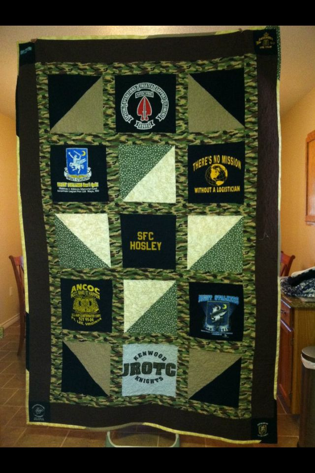 Military Tshirt Quilt I Made This Pinterest