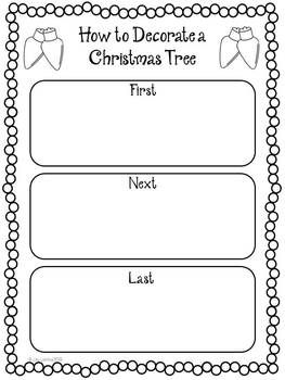 this christmas how to writing freebie includes a christmas tree decorating page - Christmas Writing Pages