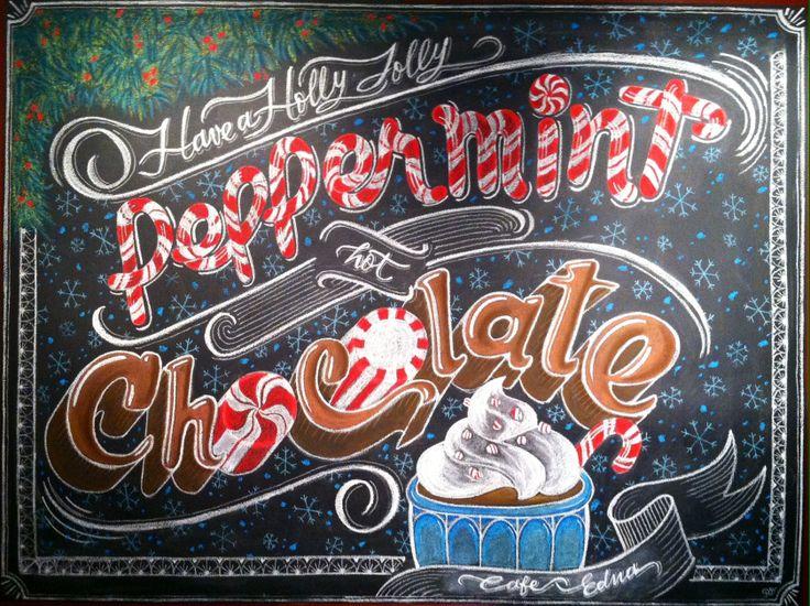 Christmas Holidays Chalk design by Carolina Ro