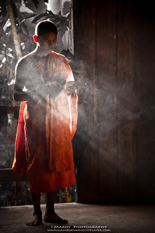 Young Monk! by Mardy Photography on 500px || I am from Cambodia Photo Player team, This monk I found in one of pagoda in Siem Reap province, Kingdom of Cambodia. ||| Please visit our website: www.cambodiaphotoplayer.com