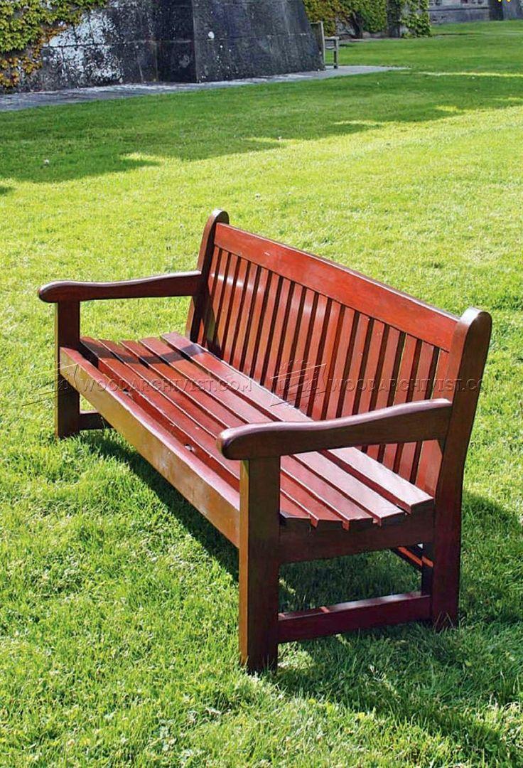 Garden Bench Plans   Outdoor Furniture Plans