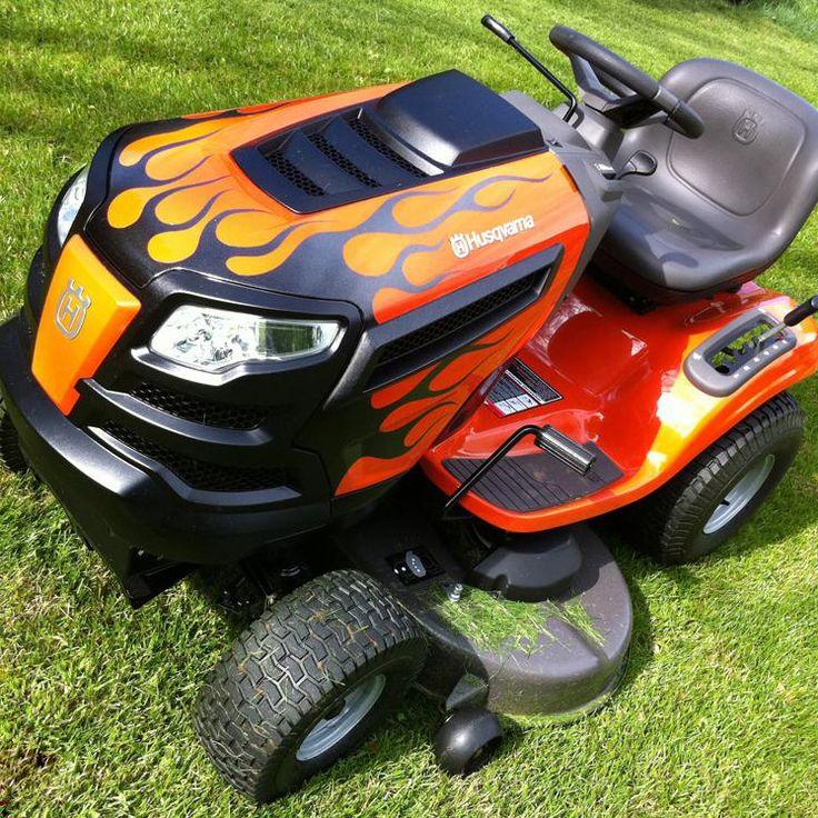 Custom flame Husqvarna riding lawn mower