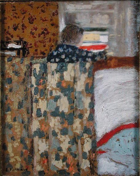 """peinture : """"le placard à linge"""", Vuillard, 1893, nabis, gris"""