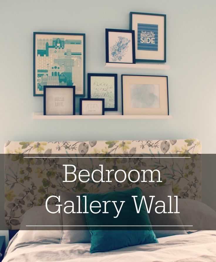 bedroom gallery wall
