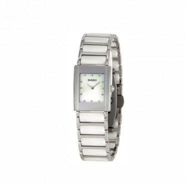 Γυναικείο ελβετικό quartz ρολόι RADO Integral με λευκό κεραμικό-ατσάλινο μπρασελέ & καντράν από φίλντισι   Ρολόγια RADO ΤΣΑΛΔΑΡΗΣ στο Χαλάνδρι #Rado #integral #κεραμικο #μπρασελε #ρολοι