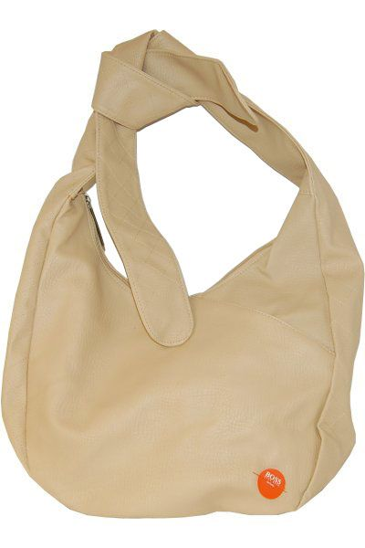Hugo Boss Debutante Tote Bag is a fashionable style shoulder bag made with soft, wipeclean material with elegant and unique tie-together handles. Includes one small zipped pocket on the outside of the bag. The inside, lined in orange also include one small zipped pocket. £8.00