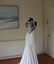 Ellis nuptiale robe de mariée taille 10 dentelle illusion retour