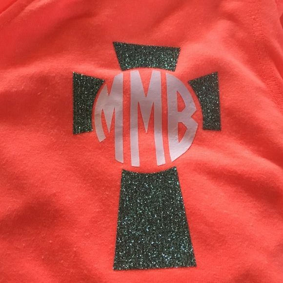 Monogrammed cross shirts! Very cute two color long or  short sleeve or tank.very cute and customizable! Gildan Other