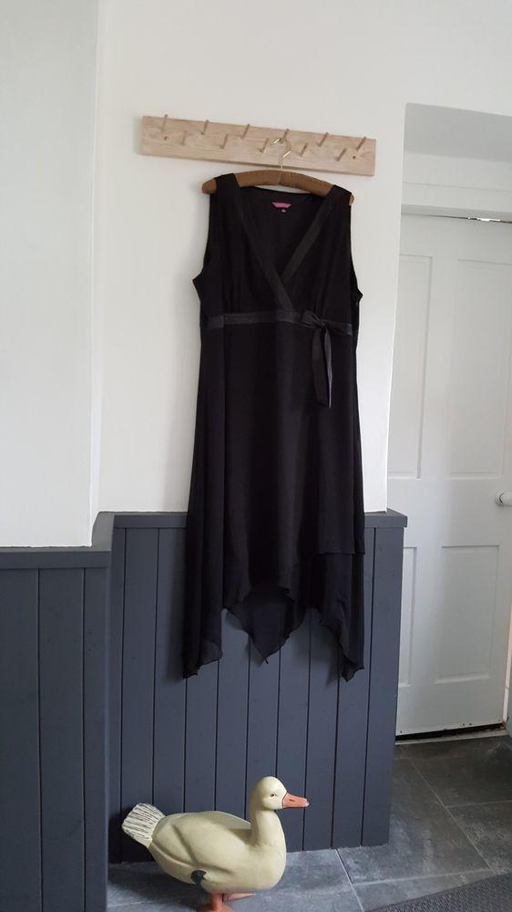 ecc567ea559 Very Co Uk Definitions Black Aysmmetrical Chiffon Dress Size 22  fashion   clothing  shoes  accessories  womensclothing  dresses  ad (ebay link)