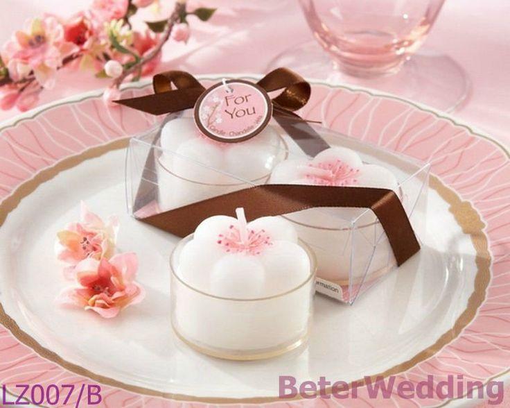 Sakura bruiloft decoratie kaars lz007/b nieuwigheid gunsten, huwelijksgeschenken, noviteit souvenirs thee licht kaars leveren        Dine Unikt bryllup favoriserer 上海倍乐婚品 http://aliexpress.com/store/512567  #bryllup #bruder #gaver #beterwedding