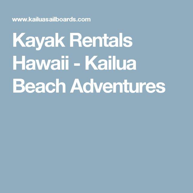 Kayak Rentals Hawaii - Kailua Beach Adventures