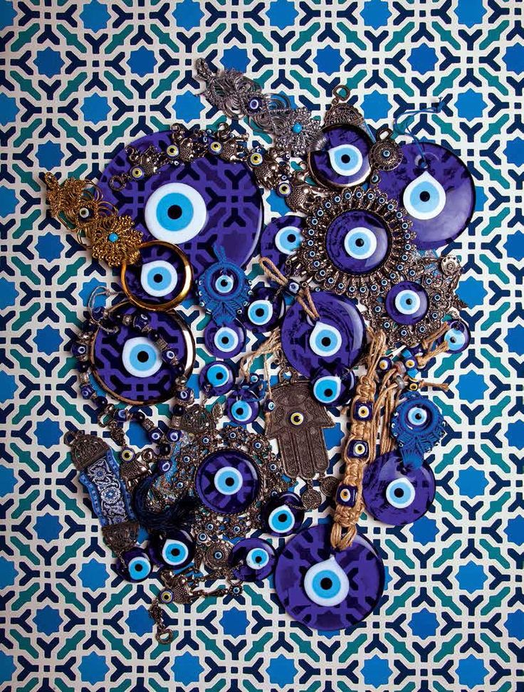 greek evil eye #styling #decor #blue