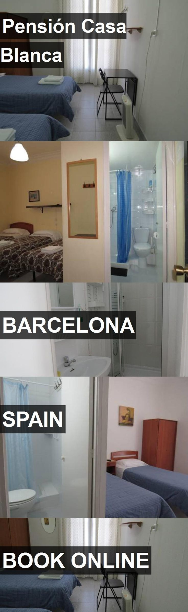 Hotel Pensión Casa Blanca in Barcelona, Spain. For more information, photos, reviews and best prices please follow the link. #Spain #Barcelona #hotel #travel #vacation