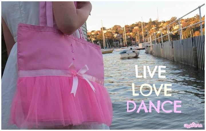 Ballet Bag   Dance Bag  Girl Present from www.facebook.com/gigglemepinkaus