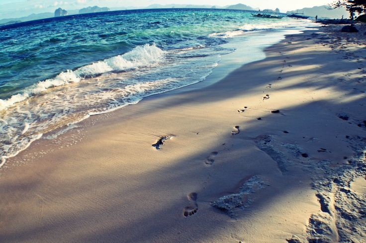 Footsteps in the sand!