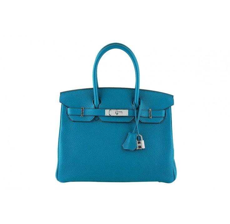 Hermes Birkin Bag, 30cm Blue Izmir Togo PHW