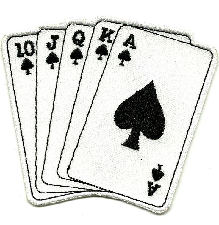 Ecusson Patch CARTES Suite AS de Pic Lucky - Rock'n'Roll Rockabilly Poker Chance fr.picclick.com
