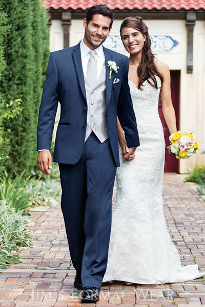 Slate Blue Aspen - Slim Fit Tuxedo Please schedule your appointment at J.J. Kelly Bridal today! www.idoappointments.com