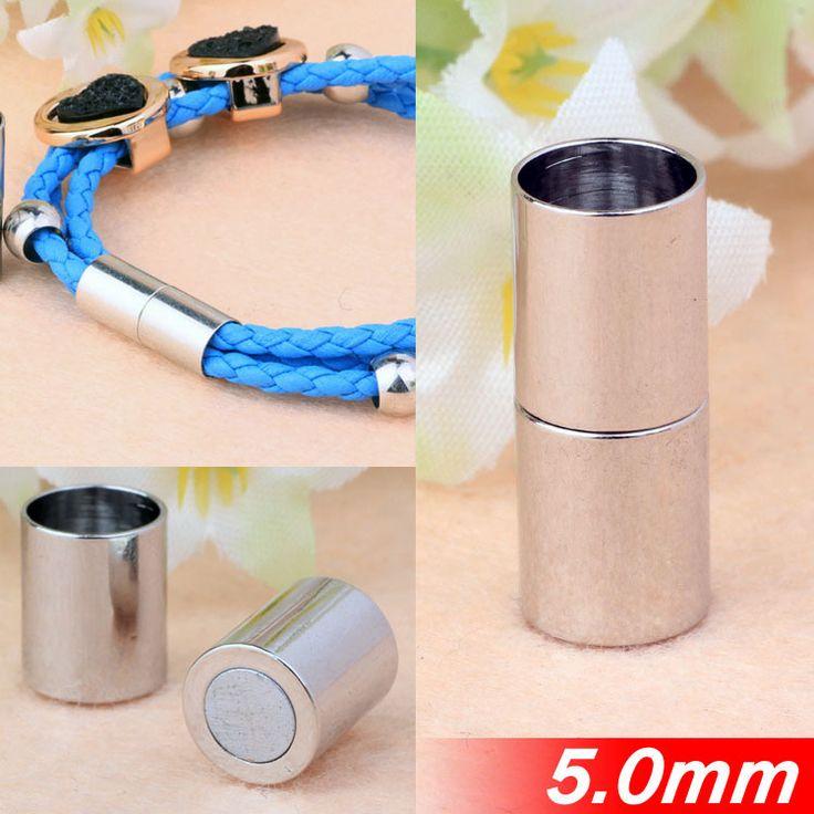 Металлической меди Fit 5 мм ожерелье браслеты круглые кожаные шнуры веревки ювелирные изделия класса магнитная застежками пряжки платины горячая