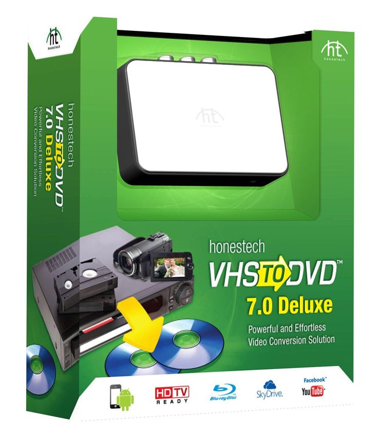 Brand - Honestech, convert VHS to DVD 7.0 Deluxe: Software - $69.99