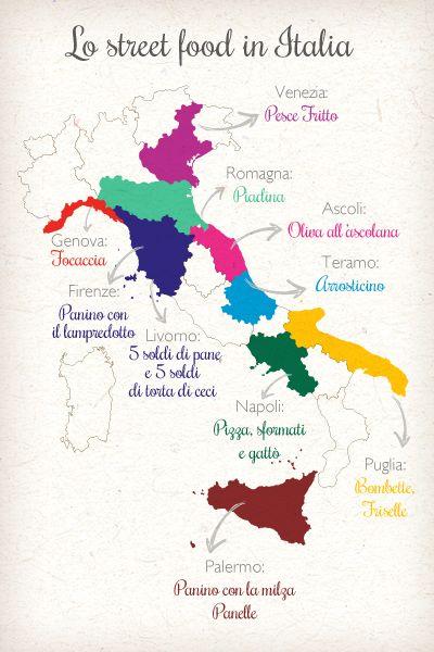 Italy Street Food Map