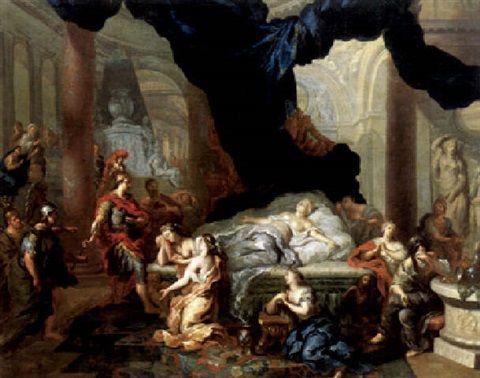 Ottmar Elliger the Younger (German, 1666–1735) Title: Kaiser Augustus vor dem Totenbett der Kleopatra