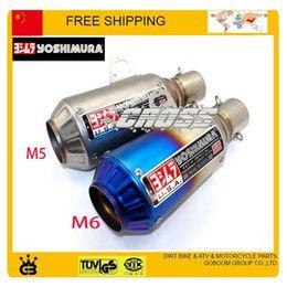 yoshimura Exhaust Muffler pipe GY6 CBR CBR125 CBR250 CB400 CB600 YZF FZ400 Z750 Motorcycle GY6 Scooter Akrapovic escape pipe order<$18no tra