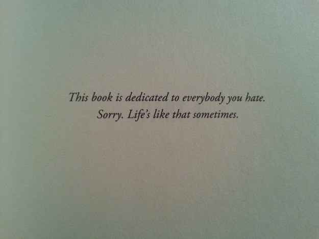 Ruins by Dan Wells   26 Of The Greatest Book Dedications You Will Ever Read. These are so funny!!!!