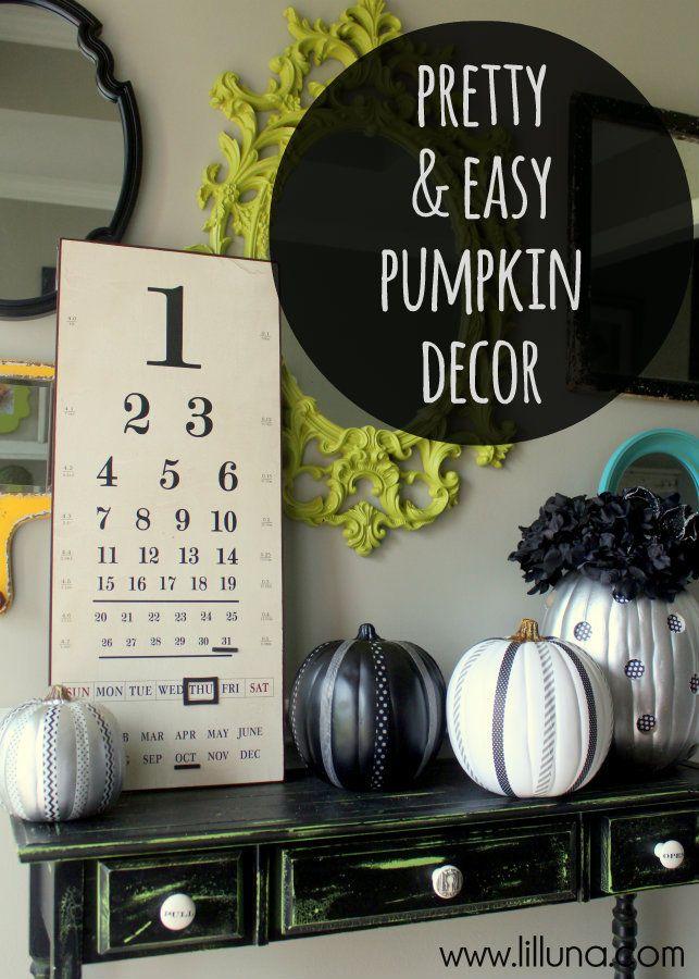 Easy and Pretty Pumpkin Decorations on { lilluna.com } #pumpkin