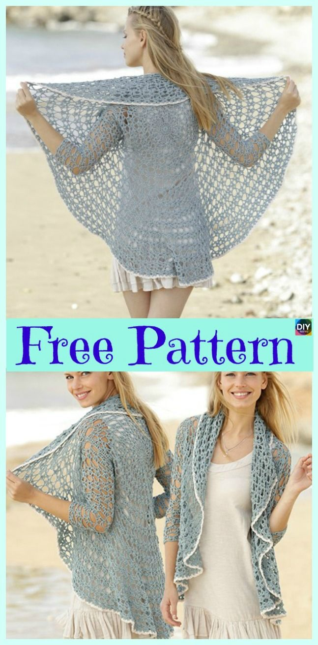 15 Unique Crochet Circular Jacket Free Patterns Crafts Sewing